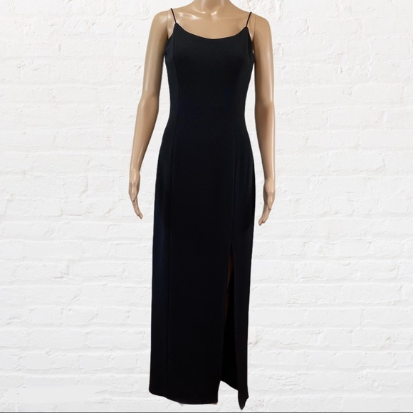 Bari Jay Formal cocktail slit black maxi Dress